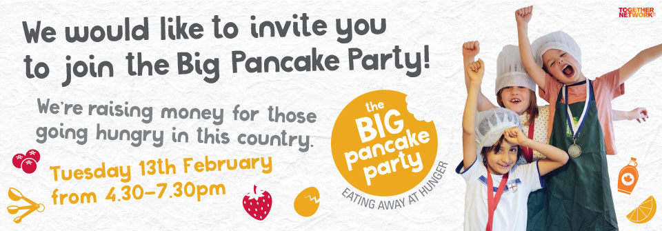 We would like to invite you to join the Big Pancake Party!